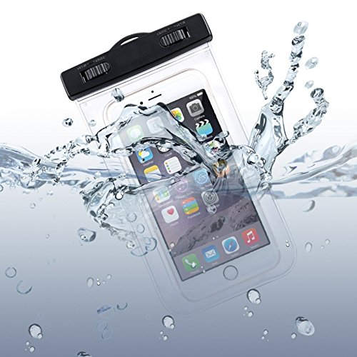 Waterproof Case Underwater Transparent Bag Pouch with Touch for T-Mobile Samsung Galaxy Avant (SM-G386T) - T-Mobile Samsung Galaxy Core Prime - T-Mobile Samsung Galaxy J7