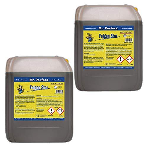 Mr. Perfect® Limpiador concentrado para llantas de aluminio y acero, cuidado de llantas con ácido, 2 x 5 litros