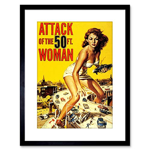 Movie Film Attack Fifty Foot Woman Giantess USA Framed Wall Art Print アメリカ合衆国