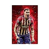 Super Star Soccer Player Jose Gimenez - Póster deportivo 02, lienzo para pared, decoración de salón, dormitorio, 50 x 75 cm, estilo unframe-1