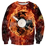 Vieryyes Fuego Helado DJ Sudaderas con Capucha 3D Hombres Mujeres Sudaderas con Capucha otoño chándales de Harajuku T Tapas de la Camisa T265...