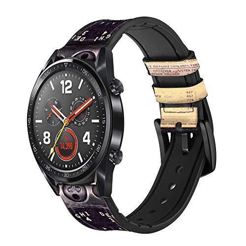 Innovedesire Payphone Vintage Cinturino in Pelle Smartwatch per Wristwatch Smartwatch Smart Watch Taglia (24mm)