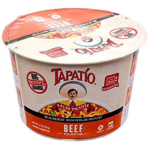 Tapatio Beef Flavor Ramen Noodle Soup Value Pack (6 x 3.7 oz. Microwaveable Bowls)