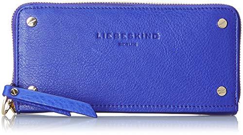 Liebeskind Berlin Damen Mnpsallh8 Pebbpa Geldbörse Blau (Deep Blue)