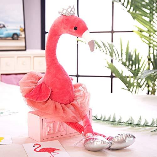 KXCAQ 35-70cm Cisne de Peluche Flamingo Pavo Real Juguetes con Corona Animales de Peluche Muñeca Juguete Suave para niños Niñas Decoración de Regalo 35cm Flamingo