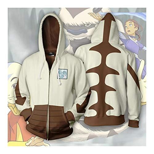Hcxbb-16 Unisexe 3D Print Hoodie - Last Airbender Avatar Aang à Capuche Pull imprimé 3D Polyester Capuche Sweats à Capuche Streetwear (Color : Zipper A06, Size : 4XL)