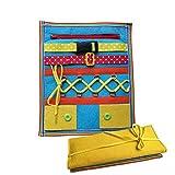 Luerme Kinder früh Lernen grundlegende lebensfähigkeiten pädagogische lehrmittel tragen lernbrett reißverschluss taste puzzle spielzeug