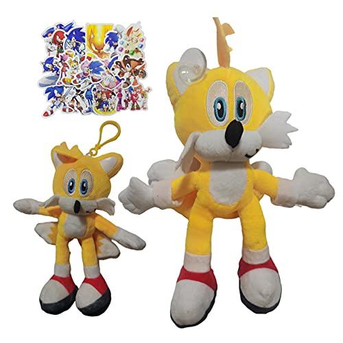 MIAOGO Llavero juguetes suaves Sonic supersónico ratón peluche juguete azul supersónico ratón sonic niño erizo exquisito sonic muñeca sonic
