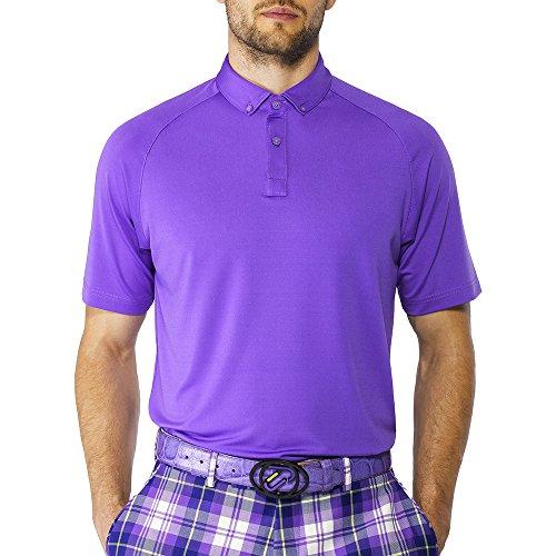 IJP Design - Golf-T-Shirts für Herren in Purple, Größe XS