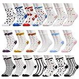 20 Pairs Women's Fishnet Socks Lace Sheer Mesh Transparent Cute Socks Girls See Through Clear Tulle Ankle Crew Socks