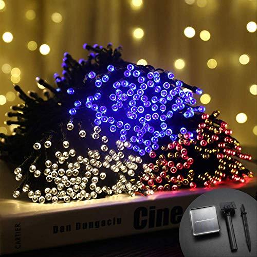 CFLFDC Cadena de luz Lámpara De Color Led De Cadena De Luz Solar Impermeable Al Aire Libre Doble función 5m 20 lámpara (solar) (Color)