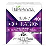 Crema facial hidratante de colágeno Bielenda Neuro, 40 + 50 ml, antiarrugas, concentrada para la piel madura