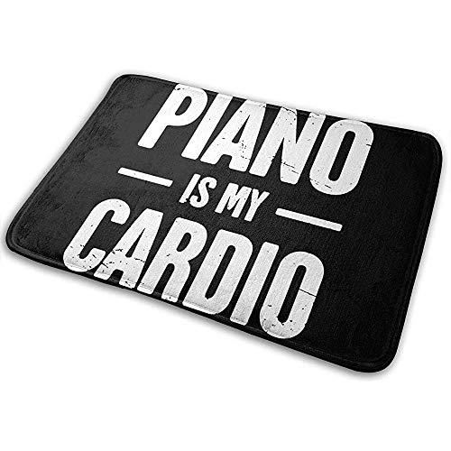 Qinzuisp Area Rug Piano Ist Meine Cardio keuken badmat vloermat 50 x 80 cm kantoor antislip anti-slip deurmat speciaal voor buiten levendig