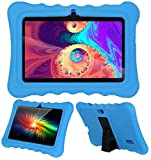 AIJAKO 7 Inch Silicone Case for Kids Tablet Haehne 7/Dragon Touch Y88X Plus Y88X Pro/YUNTAB Q88/ZONKO 7/Contixo 7/Tagital T7K/iRULU X37/SIXGO 7/INONI 7/LAMZIEN 7/Dasuy 7/CARRVAS 7/Pritom 7 (Blue)