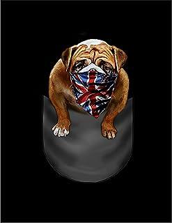Fox Republic ブルドッグ ユニオンジャック ポケット 犬 ネイビー キッズ パーカー シッパー スウェット トレーナー 110cm