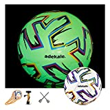 Glow in The Dark Light Up Soccer Ball 32 Panels Official Size Soccer Balls with Needles and Pump Ball Toy Soccer Ball Light up Star Soccer Size 5 Glow in The Dark Soccer Ball Size 4