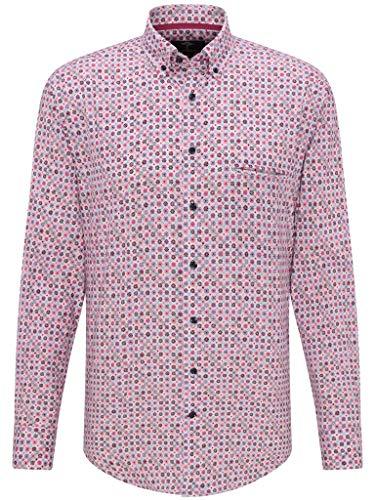 FYNCH-HATTON Herren Freizeit Hemd Summer Minimals mit Button Down Kragen, Größe:XXXXL, Farbe:Crocus-Cotton Candy