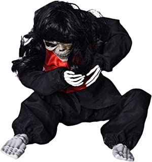 Serenable Halloween Horror Props, Electric Crying Ghost Toys Scorpion Ghost Doll Scary Cries Crying Doll for Bar Haunted House Decorations, Black/White - Black