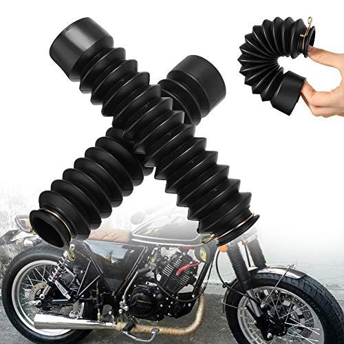Kylewo 1 par / 2 unids motocicleta de goma Tenedor Delantero Guardia Gaiters Botas Gaiter Wrap Cover Set 42mm Antideslizante