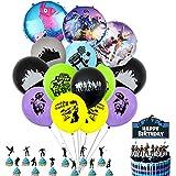 BAIBEI Artículos de Fiestas para Fanáticos de los Videojuegos Decoraciones para Cumpleaños de Tema de Videojuegos con Globos para Fiesta de Cumpleaños de Niños