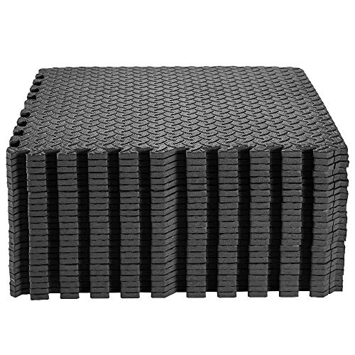 papababe Puzzle Exercise Mat with EVA Foam Interlocking Tiles for MMA Exercise, Gymnastics and Home Gym Protective Flooring, 1/2'' Thick, 96 Square Feet