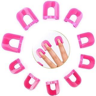 Gresunny 78pcs Plantilla de esmalte de uñas protectores de uñas de plástico reutilizable cubierta de dedos Protector de uñ...