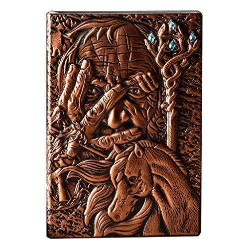 fivekim Creative The Magic - Cuaderno de piel con relieve A5, cuaderno de viaje, planificador de libros, escuela, suministros de oficina