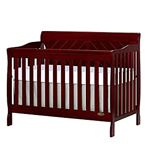 Dream On Me Ashton Full Panel Convertible 5 in 1 Crib Cherry