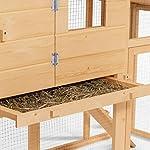 IDMarket - Poulailler Comfort avec pondoir en Bois #3