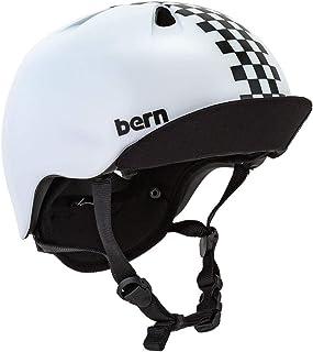[ バーン ] BERN ヘルメット ニーノ オールシーズン キッズ 自転車 スノーボード スキー スケボー VJBWBC1 マットブラックチェッカーズ Ni?o Matte Black Checkers w/Flip Visor スケートボー...