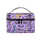 Cosmetic Bag Print Alice In Wonderland Portable Travel Makeup Bag Cosmetics Organizer Multifunction Toiletry Bags Storage Case