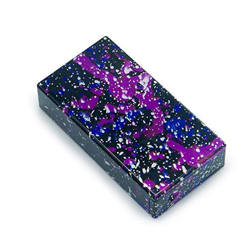 Aluminum Stash Box with Magnetic Slider Lid,2pcs One Press Clean Aluminum Tubes (Galaxy)