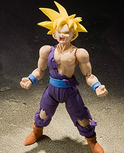 Dibujos Animados De Anime Dragon Ball S.H.Figuarts Son Gohan Colección Modelo De Juguete Anime Super Saiyan Figura Juguetes para Niños Regalo 14Cm