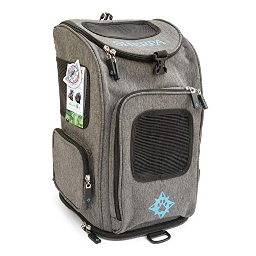 Sherpa, Travel Backpack Pet Carrier, Airline Approved, Machine Washable, Mesh Windows, Safety Locks, Spring Frame