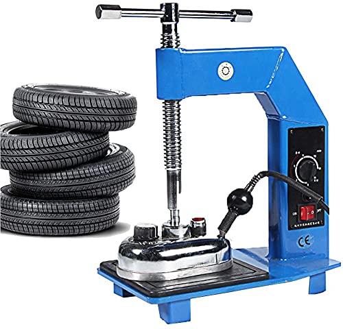 YJINGRUI 500W Vulcanizador de Neumáticos Automático Máquina de Reparación Rueda Portátil con Superficie Reparación de 120 * 80mm Función de Temporización para Auto Coche (220V)