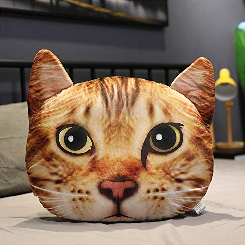 N / A 1pc Simulation cat plush pillow filled with realistic animal cushion cute toy soft doll sofa decoration for Christmas birthday gifts 40cm