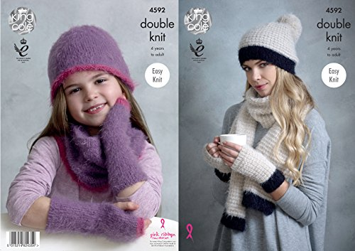 King Cole Dames & Meisjes Hoeden, Wanten, Sjaal & Snood Embrace Breipatroon 4592 DK door King Cole
