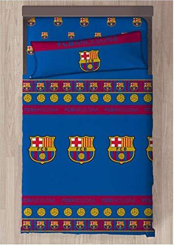 FCB FC Barcelona Referencia NI Juegos de sábanas y Fundas de Almohada Alfileres para faldón de Cama Textiles del hogar Unisex Adulto, Multicolor (Multicolor), única