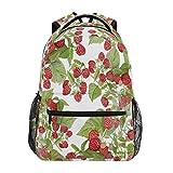 Mochila escolar ADMustwin con estampado de frutas frescas y frambuesa para viajes, mochila ligera e impermeable, mochila para ordenador portátil, moch...