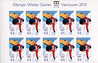 SNOWBOARDING ~ 2010 WINTER OLYMPICS ~ VANCOUVER BRITISH COLUMBIA CANADA~ SNOWBOARD #4436 Plate Block of 10 x 44¢ US Postage Stamps