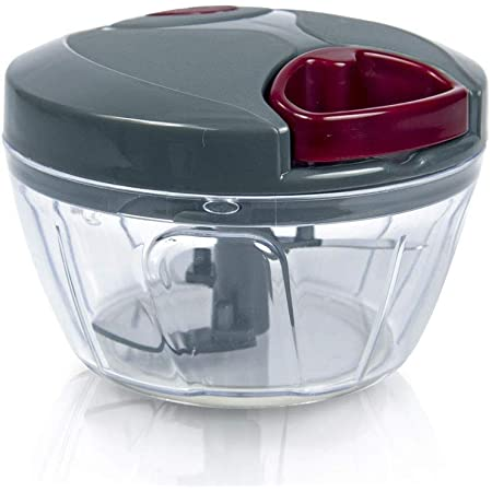 Pigeon by Stovekraft Mini Handy and Compact Chopper with 3 blades for effortlessly chopping vegetables and fruits for your kitchen (Grey)