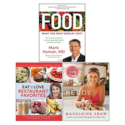 Food: What the Heck Should I Eat, Eat What You Love: Restaurant Favorites, Ready, Steady, Glow 3 Books Collection Set