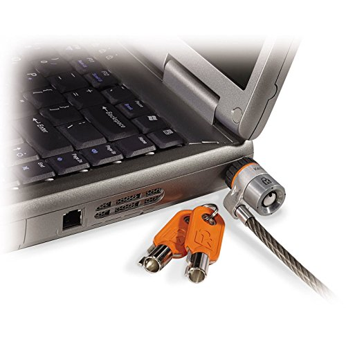 Kensington 64020 MicroSaver-Laptopschloss mit karbongehärtetem (schnittfestem Stahlkabel und T-Bar-Schließmechanismus, 1,8 m Länge)
