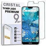 REY Protector de Pantalla para Nokia X7 / 7.1 Plus, Cristal Vidrio Templado Premium