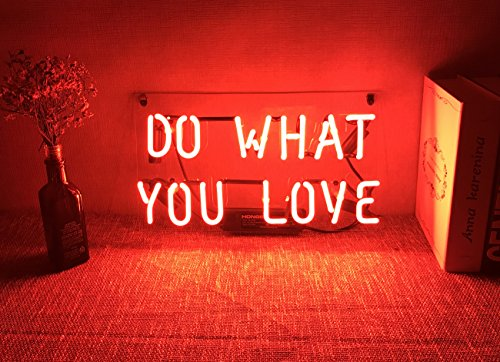 Neon Wall Sign Decorative Lights Funny Custom Girls Bedroom Beer Bar Home Room Decor Lamp Night Light Orange Red Do What You Love Wantitall