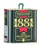 1881 Aceite de Oliva Virgen Extra, Alta Selección, (Caja de dos latas de 2,5 lt) Rico en antioxidantes naturales
