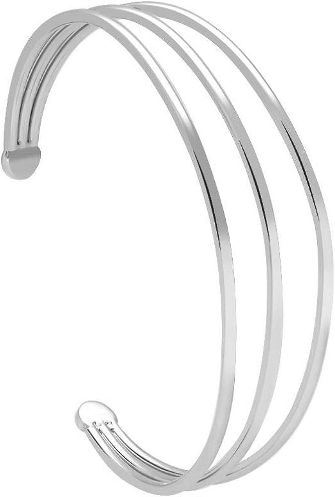 Stroili bracciale per donna bangle in acciaio rodiato 1664550