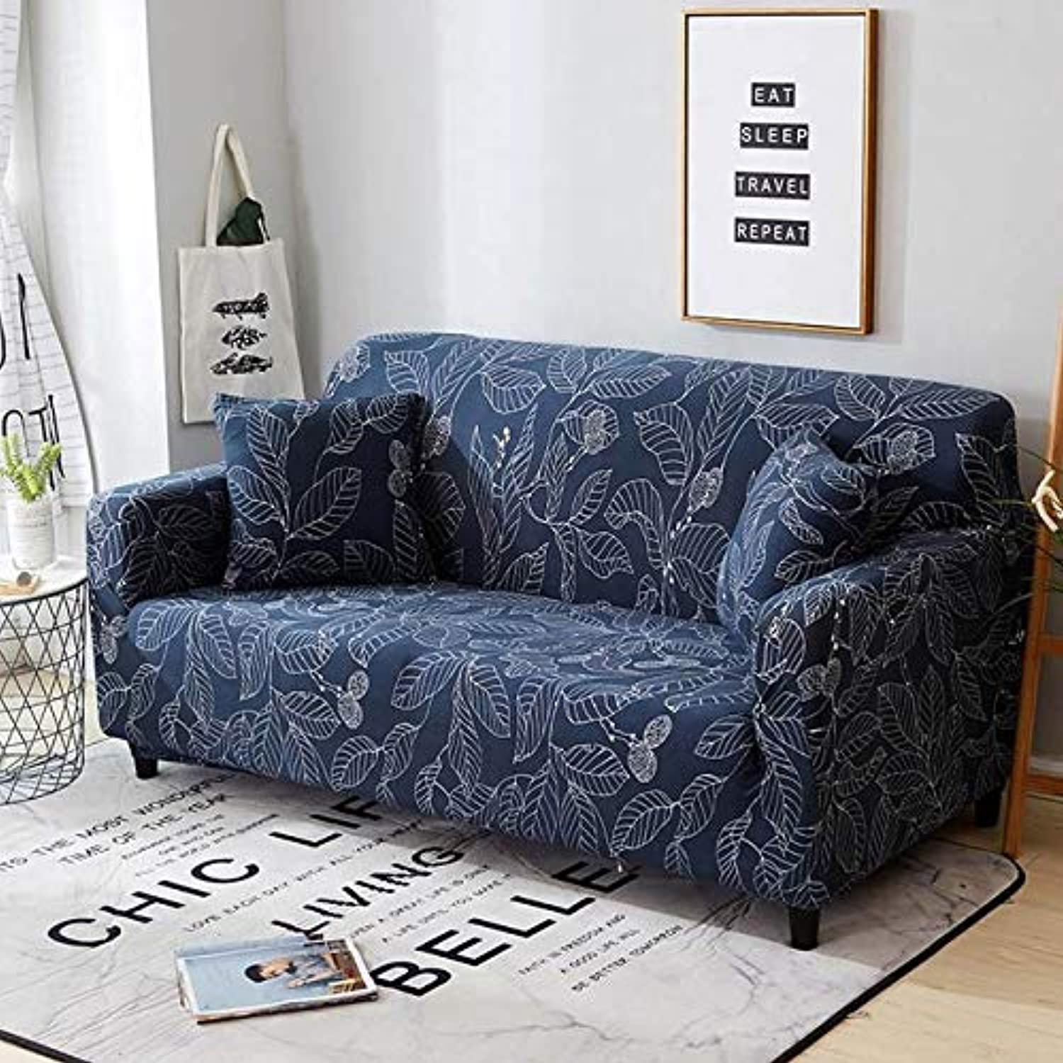 Nordic Style Modern Printing Sofa Cover Stretch Tight Wrap All-Inclusive Removable Slipcover for Living Room Furniture Covers   color 6, 2seater 145-185cm