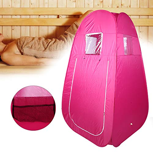 A sixx Steame Sauna Tent,Sauna Tent Portable Folding Large Space Outdoor Beach Dressing Changing Room Personal Sauna Tent Lose Weight, Slim Body, Rejuvenate Body Indoor Slimming Weight Loss