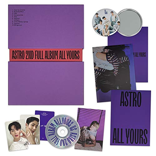 ASTRO 2ND FULL ALBUM - ALL YOURS [ US Ver. ] CD + Photobook + Digipak Cover + Accordion Postcard + Message Card + Photocards + Folded Poster(On Pack) + OFFICIAL POSTER